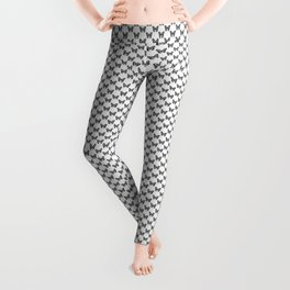 Monarch Butterfly   Black and White Leggings