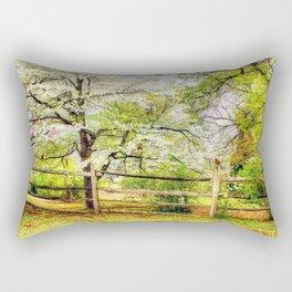 Dogwoods and Red Birds Rectangular Pillow