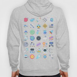CUTE OUTER SPACE / SCIENCE / GALAXY PATTERN Hoody