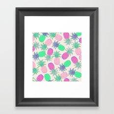 Pineapple Pandemonium Pink Punch Framed Art Print