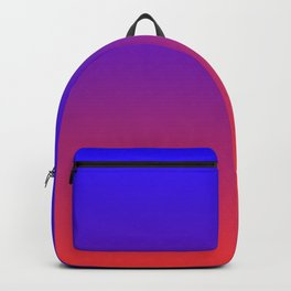 Dark-Blue and Red Gradient 019 Backpack