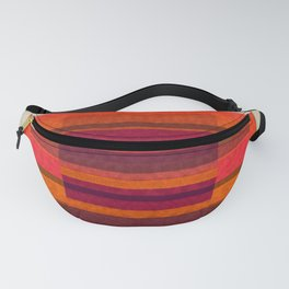 """Pink and Purple Burlap & Velveteen"" Fanny Pack"