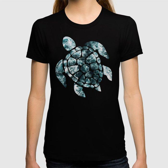Sea Turtle - Turquoise Ocean Waves T-shirt