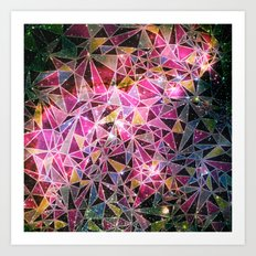 Space Triangles Art Print
