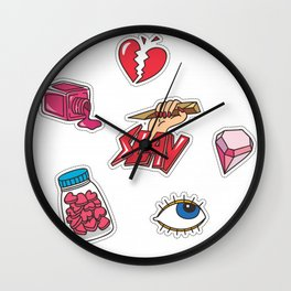 SLAY FLASH PATTERN Wall Clock