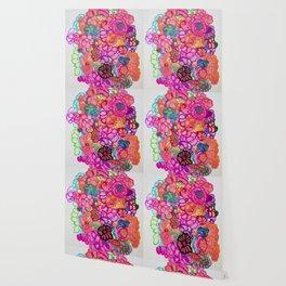 flowers design pink Wallpaper