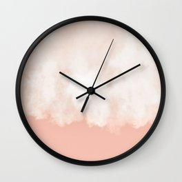 Cotton candy in beige pink Wall Clock