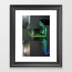Human abstract 1 Framed Art Print