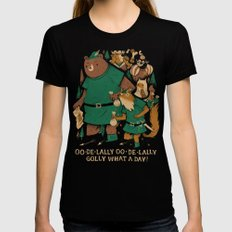oo-de-lally (brown version) Black Womens Fitted Tee LARGE