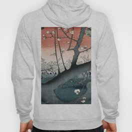 botanical ukiyo-e painting nature garden spring japanese plum flower Hoody