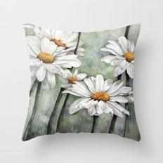 Karen's Daisies Throw Pillow