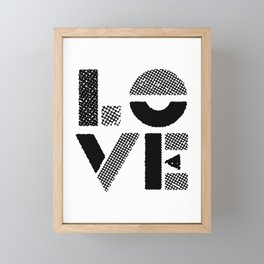 LOVE black-white contemporary minimalist vintage typography poster design home wall decor bedroom Framed Mini Art Print