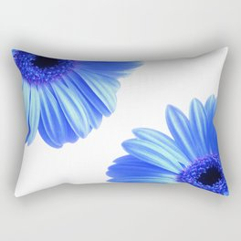 Blue Gerbera Flowers Rectangular Pillow