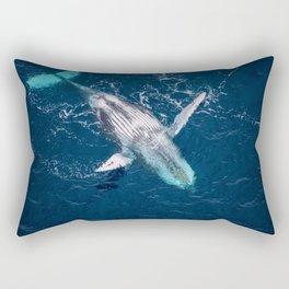Lounging Whale Rectangular Pillow