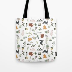 Bunnies and spring flowers Tote Bag