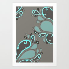 Splash Garden Art Print