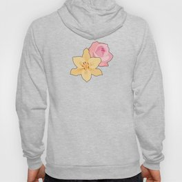 Pink Rose & Day Lily Hoody