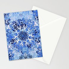 Sapphire Crochet Mandala Stationery Cards
