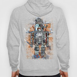 Awesome Giant Robot with Cat Hoody