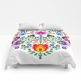 Folk Pattern - Flower Comforters