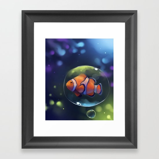 clown fish Framed Art Print