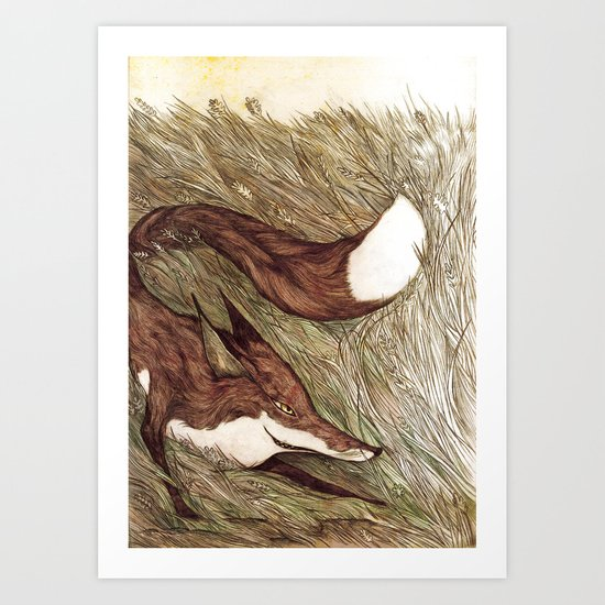 La Ruse du renard (The Sneaky Red Fox) Art Print