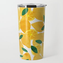 lemon mediterranean still life Travel Mug