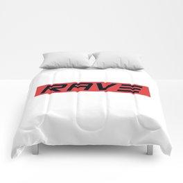 Rave Techno Festival gift idea Comforters