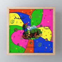 Godess Freya Popart Framed Mini Art Print