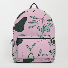 Avocado harvest veggie lovers garden mint pink summer Backpack