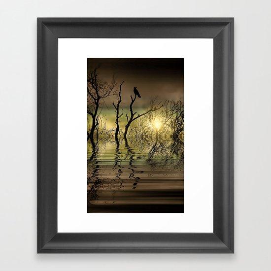 Twilight reflected Framed Art Print