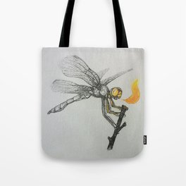 Fire-breathing Dragonfly Tote Bag