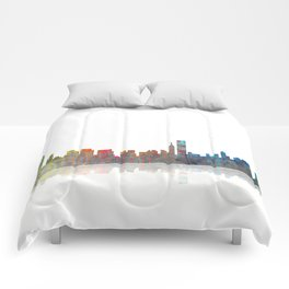 Chicago Skyline 1 BW1 Comforters