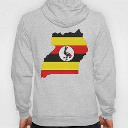 Uganda Map with Ugandan Flag Hoody