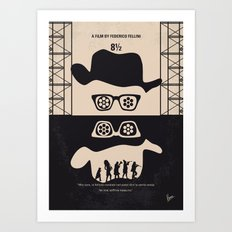 No731 My 8 1 2 minimal movie poster Art Print