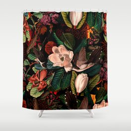FLORAL AND BIRDS XIV Shower Curtain