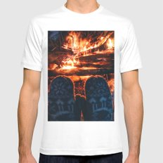 stay warm this winter White MEDIUM Mens Fitted Tee