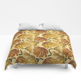Retro 70's Golden Yellow Daisy Pattern  Comforters