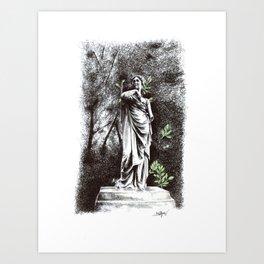 Iveagh Gardens Statue Art Print