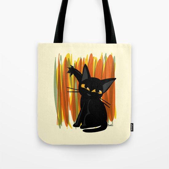 Cat artist Tote Bag