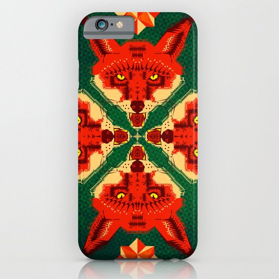 Fox Cross geometric pattern iPhone & iPod Case