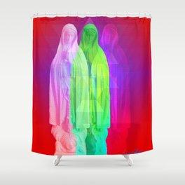 Glitch Goddess Shower Curtain