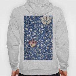 Blue and White Winding Flower Design Hoody
