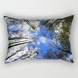 Majestic Trees Reaching For The Blue Sky Rectangular Pillow