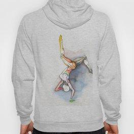 Level, female ballet dancer, NYC artist Hoody