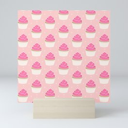 Pink Cupcakes with Frosting Mini Art Print