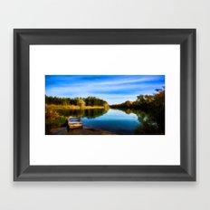 Secret Fishing Lake Framed Art Print