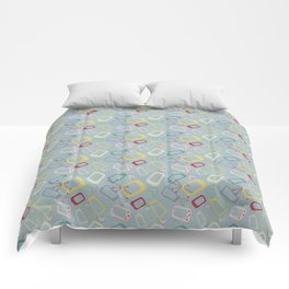 Geometrically 1950 Comforters