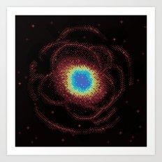 Ring Galaxy (8bit) Art Print