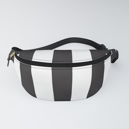 Black Greek Stripes Fanny Pack
